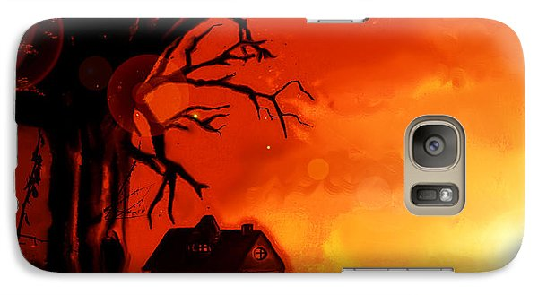 Galaxy Case featuring the painting Is This Scary? by Persephone Artworks