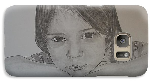 Galaxy Case featuring the drawing Isabella by Justin Moore