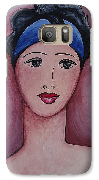 Galaxy Case featuring the painting Isabella by Leslie Manley
