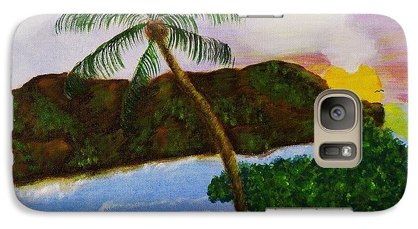 Galaxy Case featuring the painting Island Escape by Celeste Manning