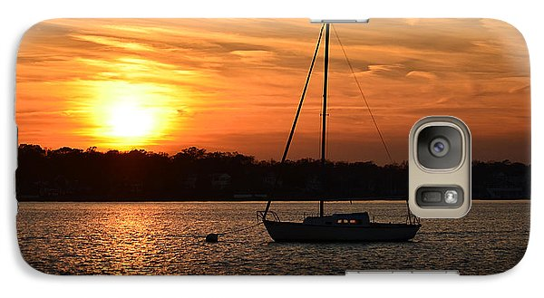 Galaxy Case featuring the photograph Island Heights Sunset by Brian Hughes