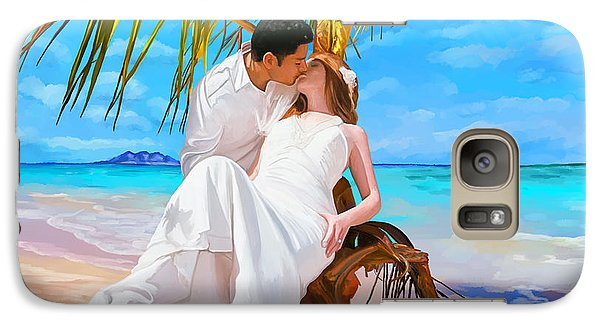 Galaxy Case featuring the painting Island Honeymoon by Tim Gilliland