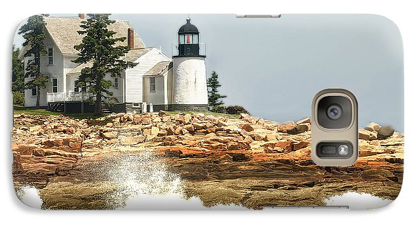 Galaxy Case featuring the photograph Island Lighthouse by Raymond Earley
