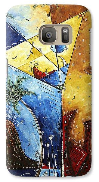 Martini Galaxy S7 Case - Island Martini  Original Madart Painting by Megan Duncanson