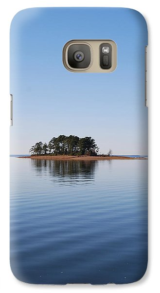 Galaxy Case featuring the photograph Island On Lake Sam Rayburn by Max Mullins
