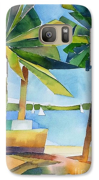 Galaxy Case featuring the painting Island Palms by Yolanda Koh