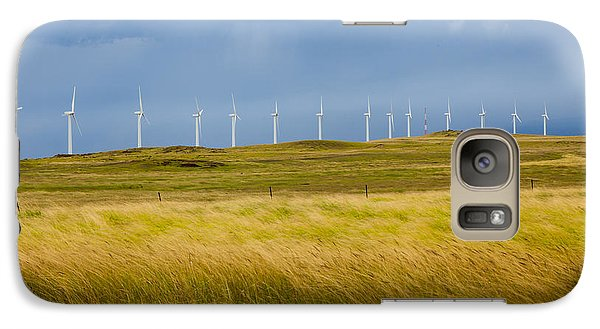Galaxy Case featuring the photograph Island Turbines And Grass by Ed Cilley