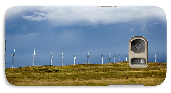 Galaxy Case featuring the photograph Island Turbines by Ed Cilley