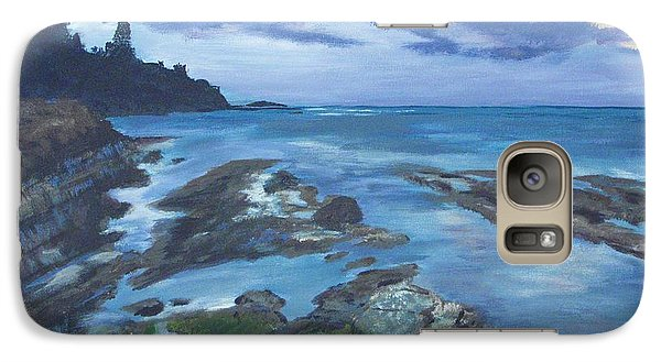 Galaxy Case featuring the painting Isle Coast by Cynthia Morgan
