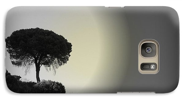 Galaxy Case featuring the photograph Isolation Tree by Clare Bevan