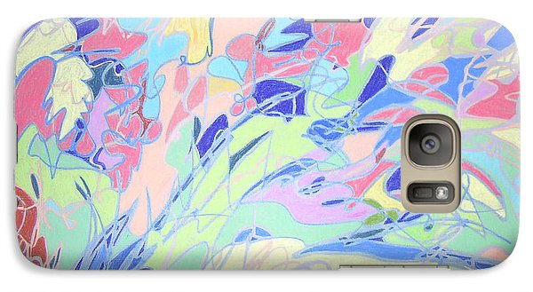Galaxy Case featuring the painting Israel Synchromy by Esther Newman-Cohen
