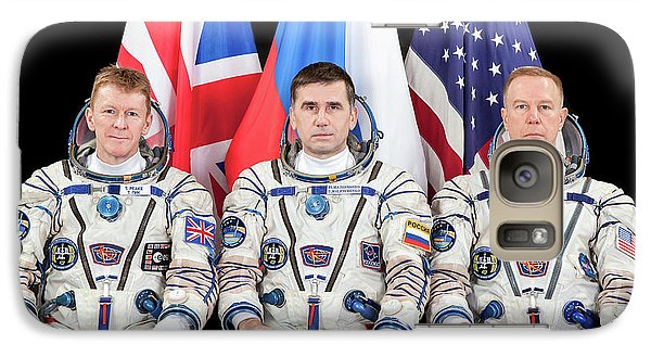 Astronaut Galaxy S7 Case - Iss Expedition 46 Crew by Nasa