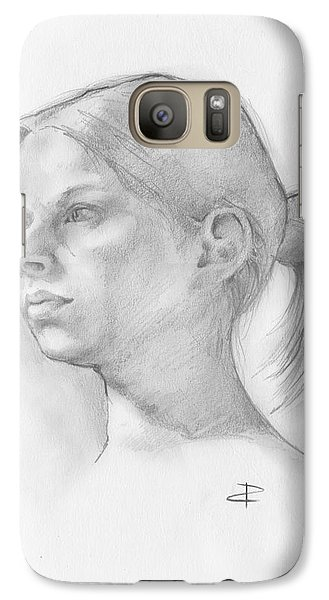 Galaxy Case featuring the drawing Issabell by Paul Davenport