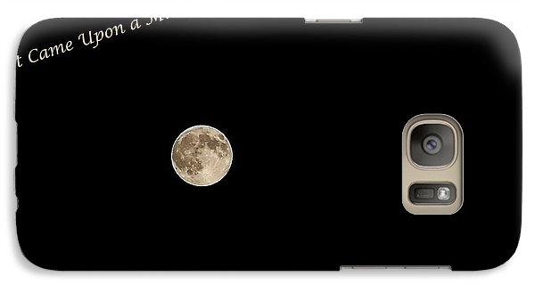 Galaxy Case featuring the photograph It Came Upon A Midnight Clear  by Rhonda McDougall