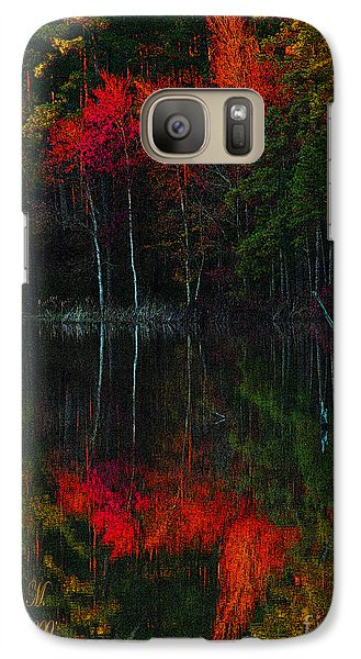 Galaxy Case featuring the photograph It Fall Time Again by Donna Brown