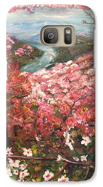 Galaxy Case featuring the painting It Is Spring Everyday by Belinda Low