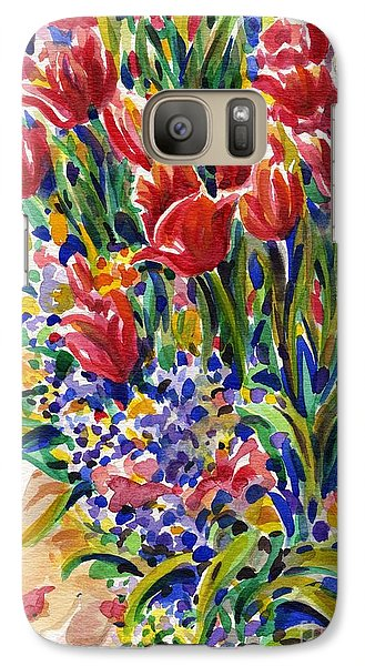 Galaxy Case featuring the painting It Might As Well Be Spring by Dee Davis