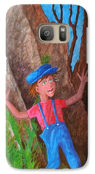 Galaxy Case featuring the painting It Was Easy ... by Matt Konar