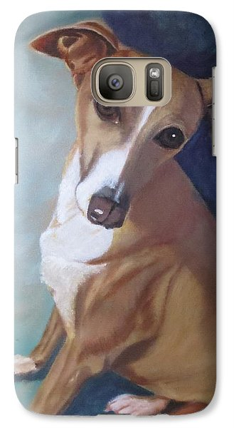 Galaxy Case featuring the painting Italian Greyhound by Sharon Schultz