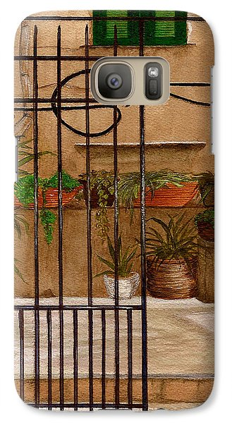Galaxy Case featuring the painting Italian Iron Gate by Nan Wright