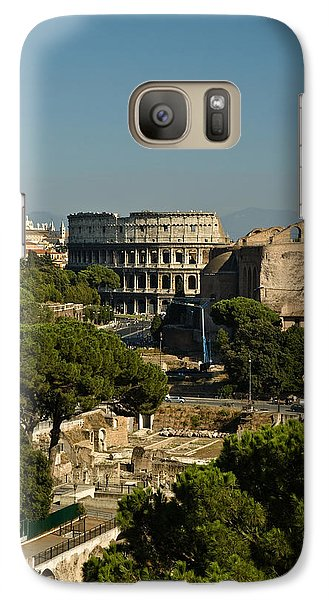 Galaxy Case featuring the photograph Italian Landscape With The Colosseum Rome Italy  by Marianne Campolongo