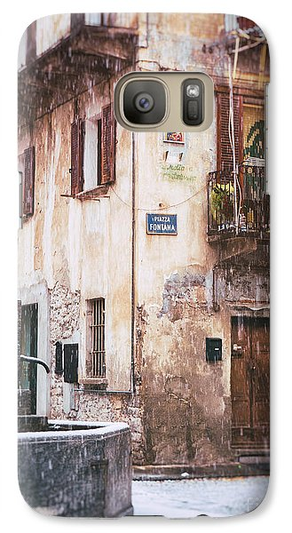 Galaxy Case featuring the photograph Italian Square In  Snow by Silvia Ganora