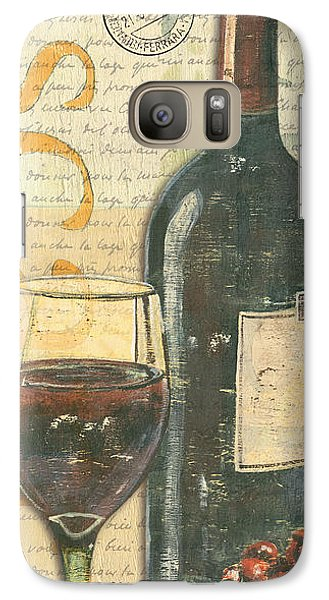 Cocktails Galaxy S7 Case - Italian Wine And Grapes by Debbie DeWitt