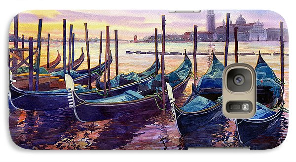 Boat Galaxy S7 Case - Italy Venice Early Mornings by Yuriy Shevchuk