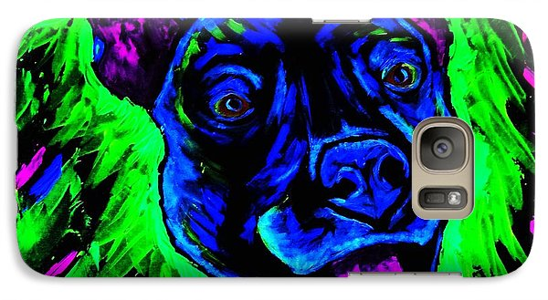 Galaxy Case featuring the painting It's A Pitty Black Light by Lisa Brandel
