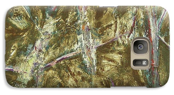 Galaxy Case featuring the painting It's Crazy Out There by Mini Arora