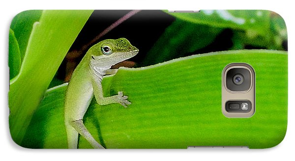 Galaxy Case featuring the photograph It's Easy Being Green Squared by TK Goforth
