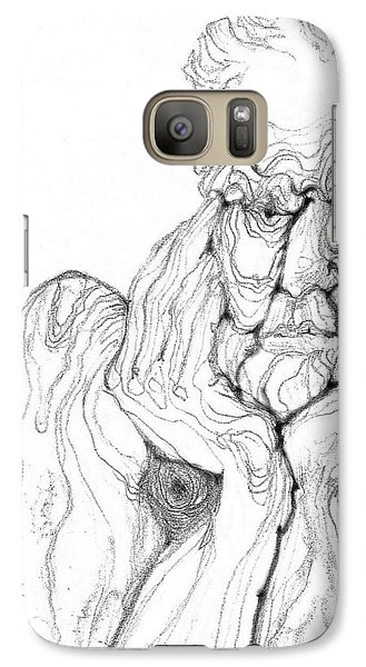 Galaxy Case featuring the digital art It's In The Grain by Carol Jacobs