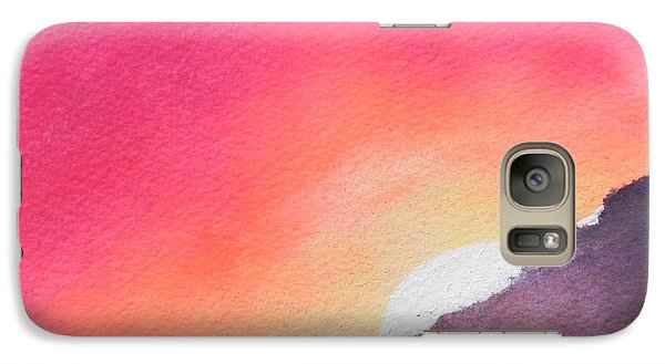 Galaxy Case featuring the painting It's Not About The Climb  Rather What Awaits You On The Other Side by Chrisann Ellis