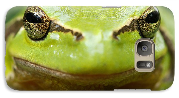 It's Not Easy Being Green _ Tree Frog Portrait Galaxy S7 Case by Roeselien Raimond
