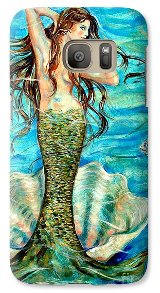 Galaxy Case featuring the painting Ivana by Linda Olsen