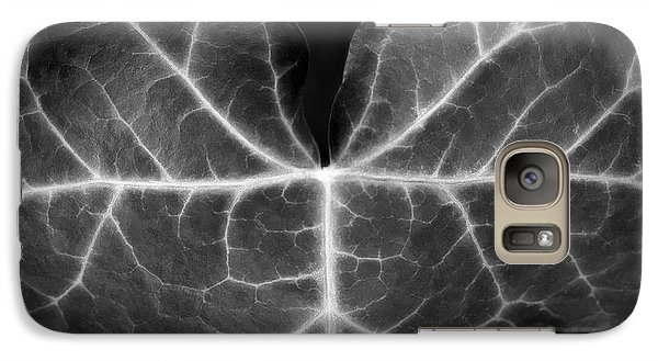 Galaxy Case featuring the photograph Black And White Flowers Macro Photography Art Work by Artecco Fine Art Photography