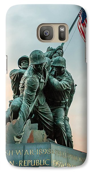 Galaxy Case featuring the photograph Iwo Jima Memorial by Dawn Romine