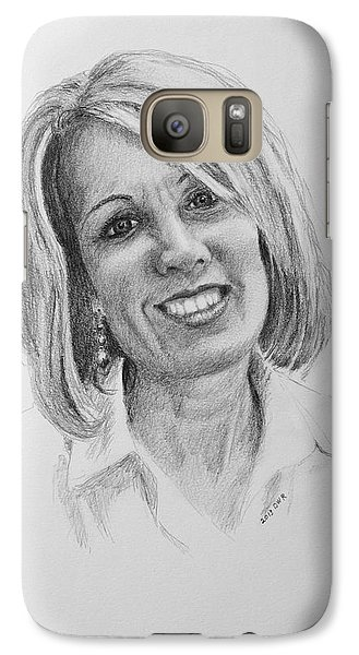 Galaxy Case featuring the drawing J by Daniel Reed