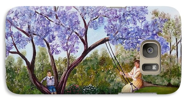 Galaxy Case featuring the painting Jacaranda Time by Renate Voigt