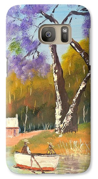 Galaxy Case featuring the painting Jacaranda Tree by Pamela  Meredith