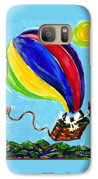 Galaxy Case featuring the painting Jack And Charlie Fly Away by Jackie Carpenter