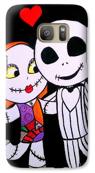 Galaxy Case featuring the painting Jack And Sally by Marisela Mungia