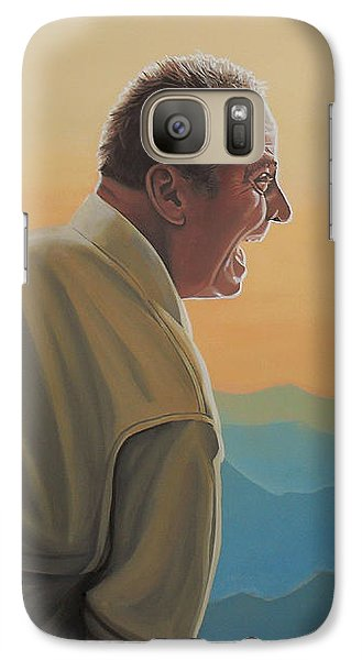 Jack Nicholson And Morgan Freeman Galaxy S7 Case by Paul Meijering