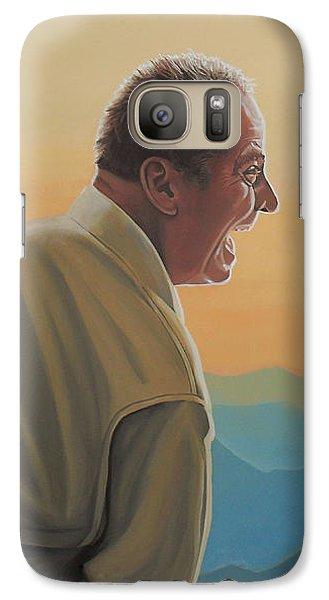 Knight Galaxy S7 Case - Jack Nicholson And Morgan Freeman by Paul Meijering
