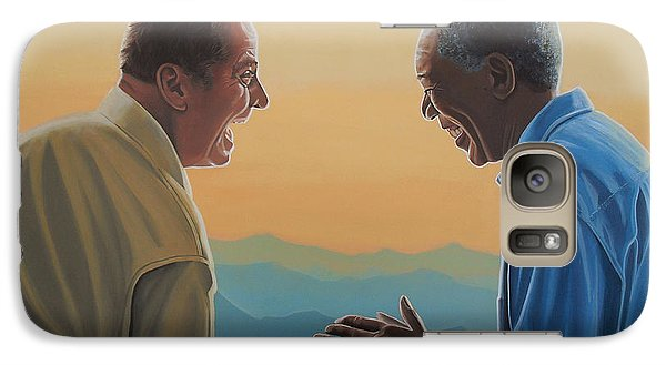 Jack Nicholson And Morgan Freeman Galaxy Case by Paul Meijering