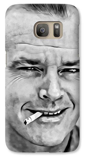 Jack Nicholson Galaxy S7 Case by Florian Rodarte