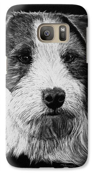 Galaxy Case featuring the drawing Jack Russell Terrier - Rough Coat by Rachel Hames