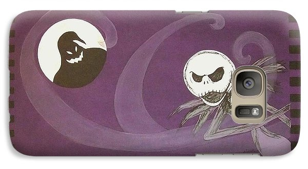 Galaxy Case featuring the painting Jack Skellington With The Oggie Boogie Floor Cloth 2012 by Cindy Micklos