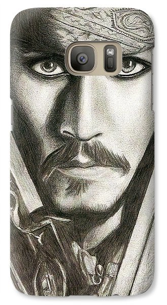 Orlando Bloom Galaxy S7 Case - Jack Sparrow by Michael Mestas