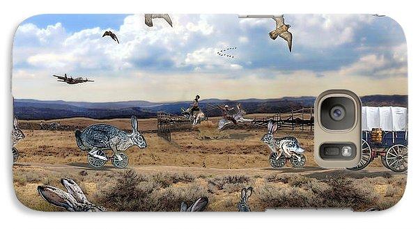 Galaxy Case featuring the digital art Jackrabbit Juxtaposition  At Owyhee View by Tarey Potter